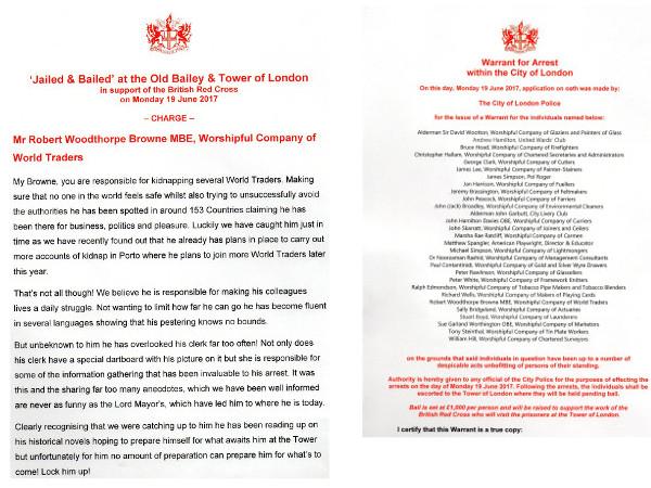 Jailed Bailed British Red Cross