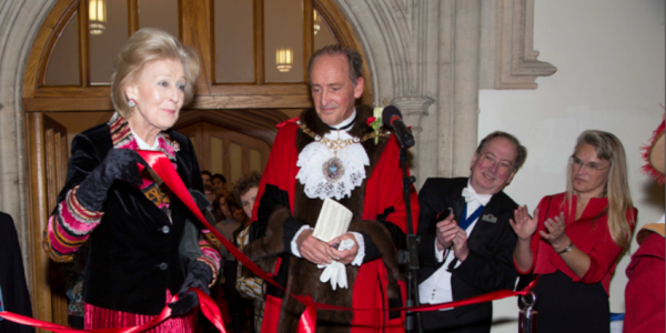 l to r HRH Princess Alexandra, Rt Hon Lord Mayor Charles Bowman, Master Alderman Professor Michael Mainelli, Mrs Elisabeth Mainelli